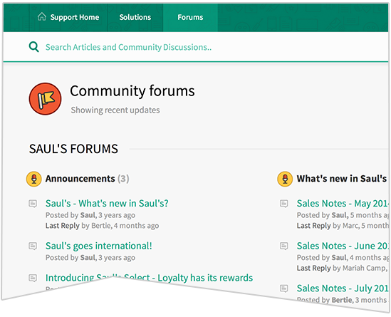 Community forum theme